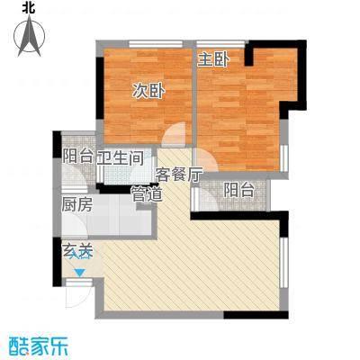 七里香榭户型图6#楼07户型 2室2厅