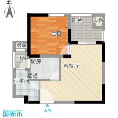 元一时代广场户型图0903040597 1室2厅1卫1厨