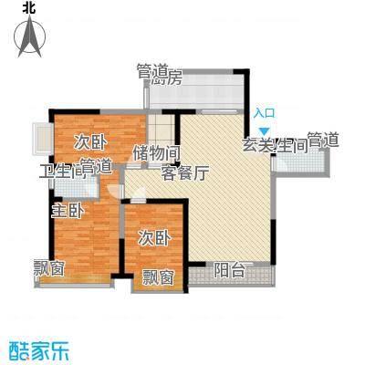 蓬莱花园102.00㎡蓬莱花园3室户型3室