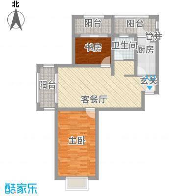 空港一号花园95.11㎡空港一号花园户型图G8-12室2厅1卫1厨户型2室2厅1卫1厨
