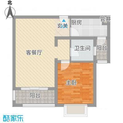空港一号花园73.99㎡空港一号花园户型图G8-21室2厅1卫1厨户型1室2厅1卫1厨