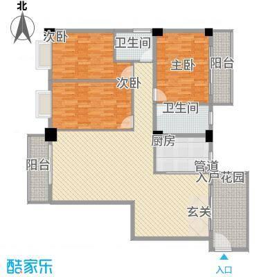 美景苑120.00㎡美景苑户型图C3户型图3室2厅2卫户型3室2厅2卫
