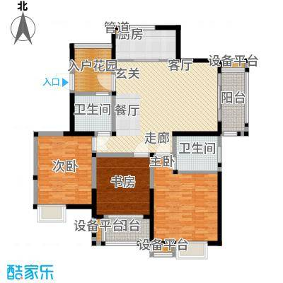 美满锦园128.00㎡美满锦园户型图C2户型3室2厅2卫1厨户型3室2厅2卫1厨