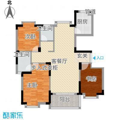 岸上玫瑰114.00㎡岸上玫瑰户型图NC-5A2户型3室2厅1卫1厨户型3室2厅1卫1厨
