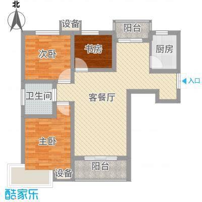 长春都市花园95.00㎡长春都市花园3室户型3室