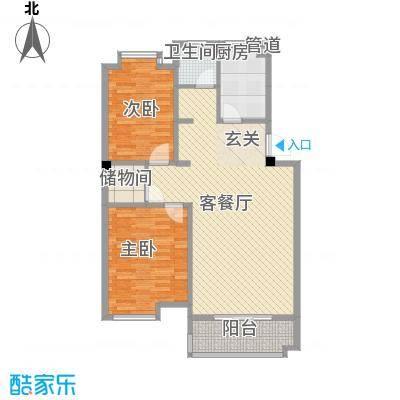 岸上玫瑰96.00㎡岸上玫瑰户型图A型2室2厅1卫户型2室2厅1卫