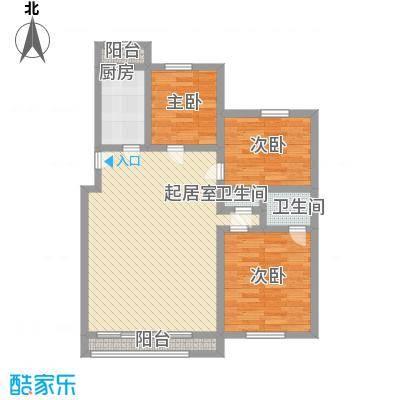瑶东北村104.00㎡瑶东北村3室户型3室