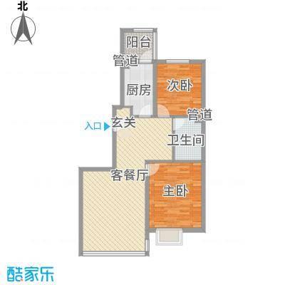 江南新村60.00㎡江南新村2室户型2室