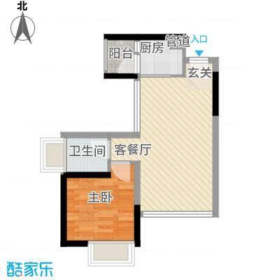 博学公馆55.90㎡1单元01、02户型1室2厅1卫1厨
