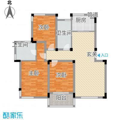 园景天下143.00㎡园景天下3室户型3室
