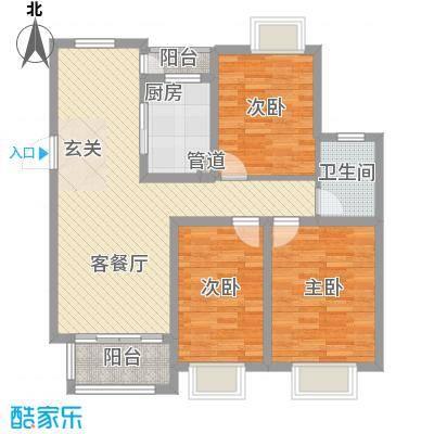 中铁四局建筑公司宿舍110.00㎡中铁四局建筑公司宿舍3室户型3室