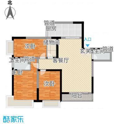 庐阳佳苑106.00㎡庐阳佳苑3室户型3室