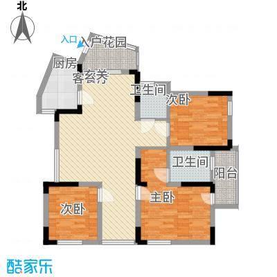 龙湾国际公寓123.00㎡龙湾国际公寓户型图B楼03b户型3室2厅2卫1厨户型3室2厅2卫1厨