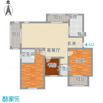 长安萨尔斯堡102.65㎡长安萨尔斯堡户型图20080507-E户型3室2厅1卫户型3室2厅1卫