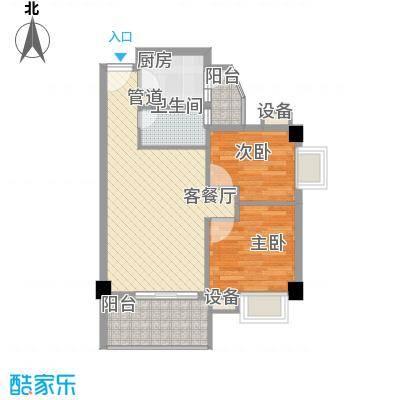 尚境雅筑71.00㎡A1栋01单元户型2室2厅