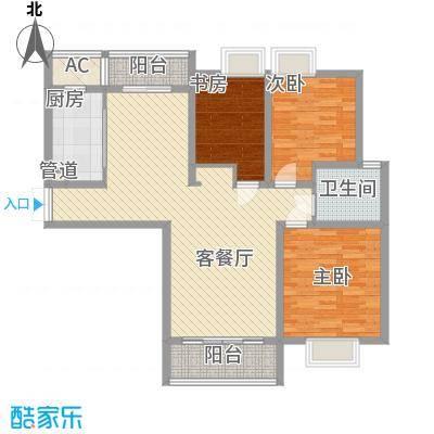 中邦城市花园132.41㎡中邦城市花园户型图C3户型3室2厅1卫户型3室2厅1卫