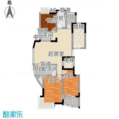 君域豪庭142.20㎡君域豪庭户型图A3室2厅2卫1厨户型3室2厅2卫1厨