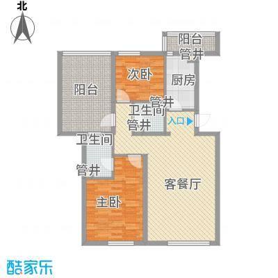 花冲苑90.00㎡花冲苑3室户型3室