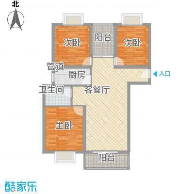 润泽东都二期宽域114.88㎡润泽东都二期宽域户型图H13室2厅1卫户型3室2厅1卫