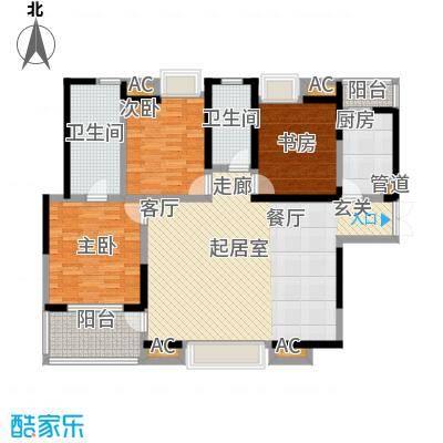 兰亭园 3室 户型图