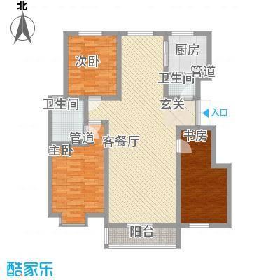 蓬莱花园105.00㎡蓬莱花园3室户型3室