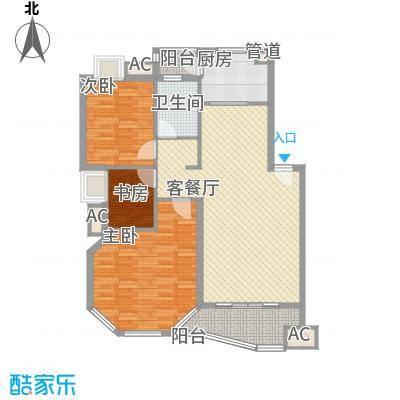水墨兰庭104.00㎡水墨兰庭户型图A型3室2厅1卫1厨户型3室2厅1卫1厨