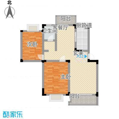 蓬莱花园84.00㎡蓬莱花园2室户型2室