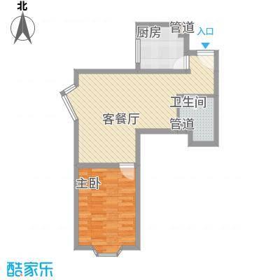 景荣花园40.00㎡景荣花园1室户型1室