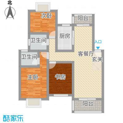 阳光花园105.00㎡阳光花园3室户型3室