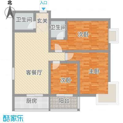 中城心岛国际公寓117.00㎡中城心岛国际公寓户型图3室2厅2卫户型3室2厅2卫