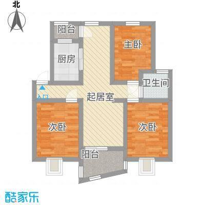 瑶东北村80.00㎡瑶东北村3室户型3室