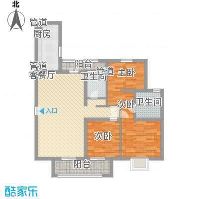 银都苑108.00㎡银都苑3室户型3室