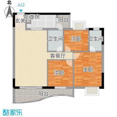 金狮华庭117.67㎡金狮华庭户型图3房2厅户型图3室2厅2卫1厨户型3室2厅2卫1厨