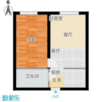 山湖新村47.00㎡山湖新村1室户型1室