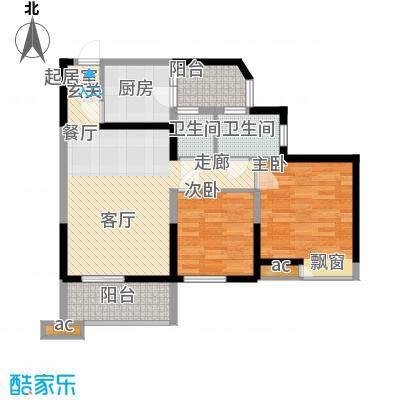 山湖新村51.00㎡山湖新村2室户型2室