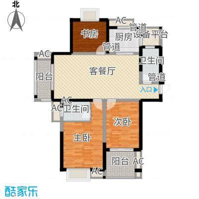 东方丽晶138.62㎡东方丽晶户型图拉菲户型3室2厅2卫户型3室2厅2卫