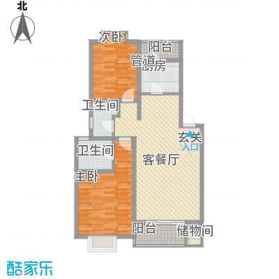 金兴苑85.00㎡金兴苑2室户型2室