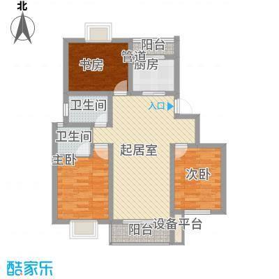 方圆华庭98.00㎡方圆华庭3室户型3室