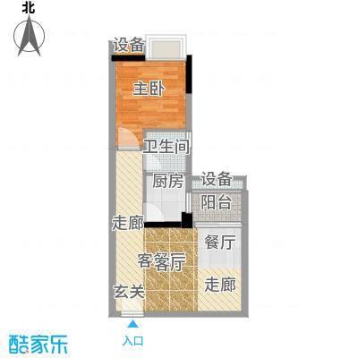 恒鑫东和湾48.15㎡恒鑫东和湾户型图1805房1室1厅1卫1厨户型1室1厅1卫1厨