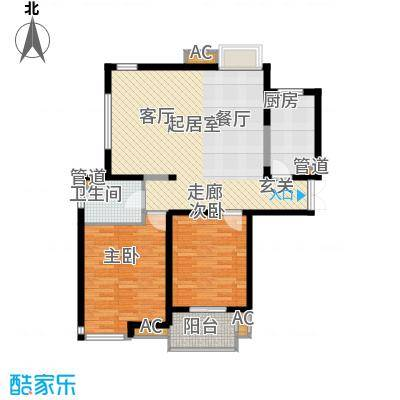 方兴社区66.00㎡方兴社区2室户型2室