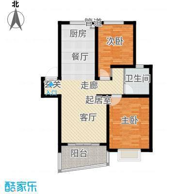 龙兴苑93.00㎡龙兴苑2室户型2室