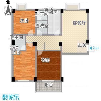 德邦翠馨居130.52㎡德邦翠馨居户型图B3户型3室2厅2卫1厨户型3室2厅2卫1厨
