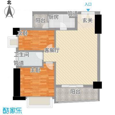 亿海湾81.60㎡亿海湾户型图1东15-20g2室2厅1卫1厨户型2室2厅1卫1厨