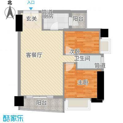 亿海湾81.60㎡亿海湾户型图1东15-20h2室2厅1卫1厨户型2室2厅1卫1厨