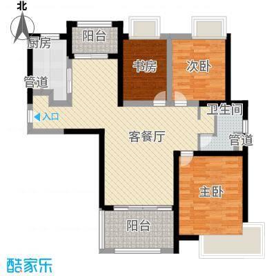 融绿理想湾110.00㎡D户型3室2厅2卫1厨