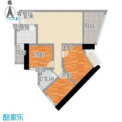 亿海湾108.84㎡亿海湾户型图1东27-32a3室2厅2卫1厨户型3室2厅2卫1厨