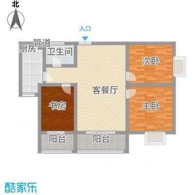 海�新天112.80㎡E户型3室2厅1卫1厨