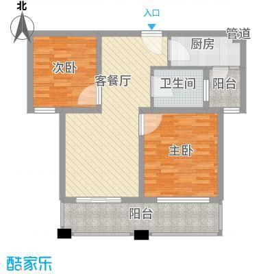润泽东都二期宽域91.00㎡润泽东都二期宽域户型图1/A2室2厅1卫户型2室2厅1卫