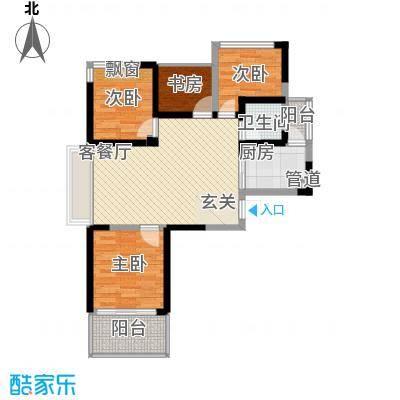 七里香榭91.00㎡七里香榭户型图D1户型4室2厅1卫1厨户型4室2厅1卫1厨