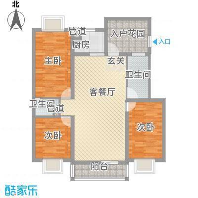 丽景碧雅110.00㎡丽景碧雅3室户型3室